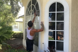 Removing Old Window- Stucco Cut Out