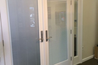 Neuma French Doors With Blinds and Sidelite